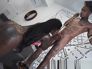 Tattoo Girl anal blowjob cumshot video