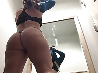 Changing Room Voyeur - Shopping Mall amateur brunette upskirt video