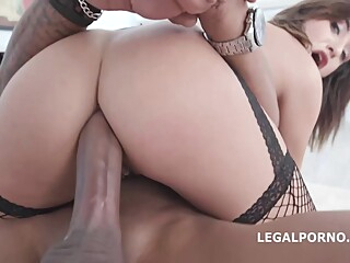Isabella Nice is fucking a black guy while wearing fishnet stockings, because he likes it anal brunette hairy video